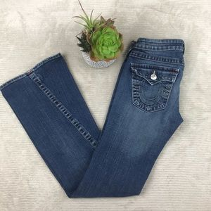 True Religion Flare Med Wash Jeans